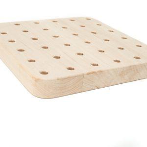 Tablica manipulacyjna - Sensoryczna- Geoplan 100% drewno zaokrąglone
