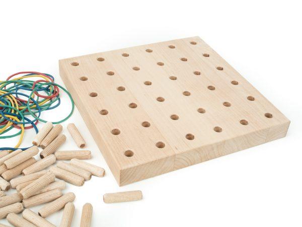 Tablica manipulacyjna - Sensoryczna- Geoplan 100% drewno
