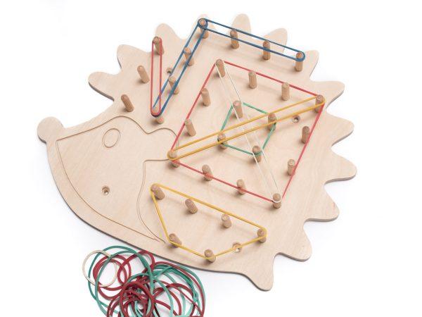 Tablica manipulacyjna - Sensoryczna- Geoplan jeżyk