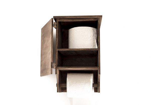 Szafka do WC drewniana palisander/lakierowana
