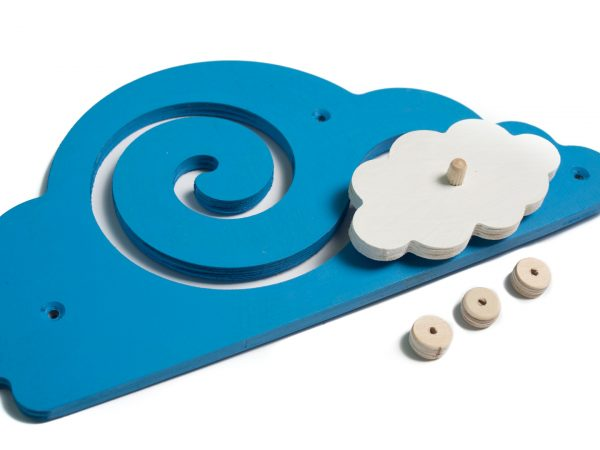 Tablica manipulacyjna / sensoryczna - Chmurka niebieska