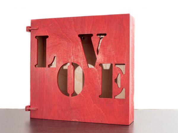 SZAFKA NA KLUCZE LOVE LAKIEROWANA