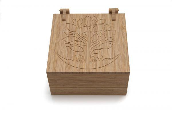 Szkatułka na biżuterię z drewna bambusowego