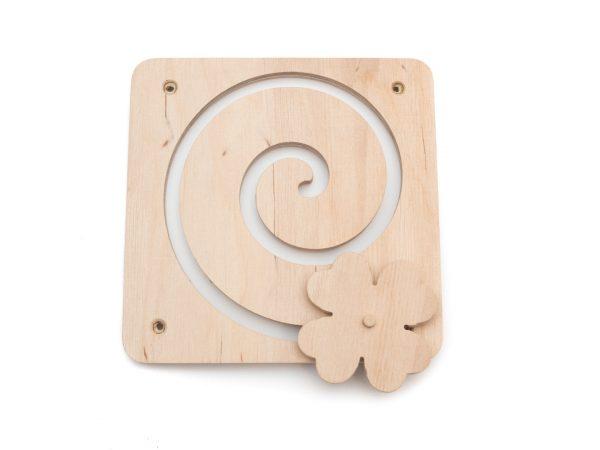 Element do tablicy manipulacyjnej / sensorycznej - Spirala z koniczyną